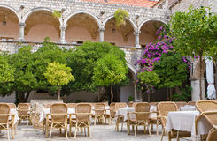 Old-fashioned  courtyard Stock Photography