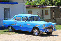 Old fashioned Cuban Car Royalty Free Stock Images