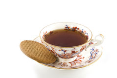 Old-fashioned cup of tea Stock Photography