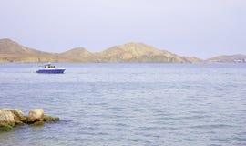 Old fashioned cutter on Black sea Koktebel, Crimea Royalty Free Stock Photos