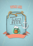Old-fashioned design of the first page pub. Vintage label Royalty Free Stock Photos