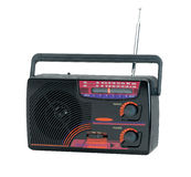 Old fashioned design of the transistor radio Royalty Free Stock Image