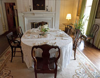 Old fashioned dining room Royalty Free Stock Photos