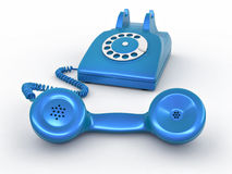 Old-fashioned disk phone Royalty Free Stock Images