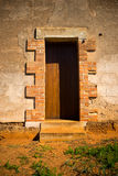 Old fashioned door. Details of old fashioned door in building Royalty Free Stock Photos