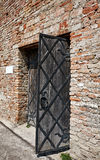 Old fashioned door opened Royalty Free Stock Photos