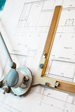 Old-fashioned drawing board stock photo
