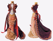 Old-fashioned dress. For doll Royalty Free Stock Images