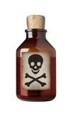 Old fashioned drug bottle, isolated. Stock Images