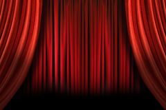 Old fashioned elegant stage with swag velvet curta Royalty Free Stock Images