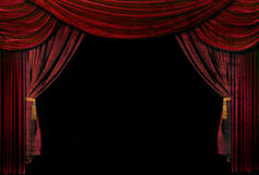Old fashioned, elegant theater stage drapes Stock Images