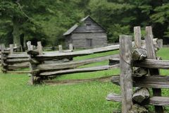 Old Fashioned Fence. An Old Fashioned Fence at an old Farmstead along the Blue Ridge Parkway in South Carolina, USA Stock Images