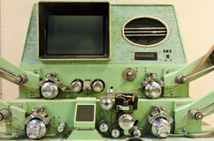 Old-fashioned film editing machine royalty free stock image