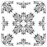 Old fashioned floral design element for textures and backgrounds.  stock illustration