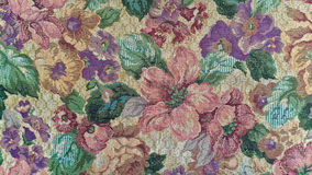 Old-fashioned floral tapestry Royalty Free Stock Photos