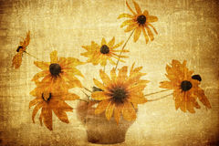 Old fashioned flowers background Royalty Free Stock Image
