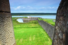 Old-fashioned fortifications Stock Photography