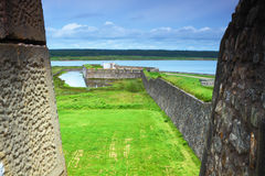 Old-fashioned fortifications Royalty Free Stock Images