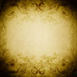 Old-fashioned frame. Grunge paper background. Stock Image