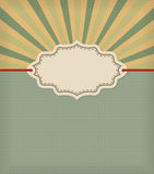 Old fashioned frame with stripes background. Retro vector design template Stock Images
