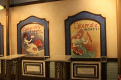 Old fashioned French bakery at Epcot Disney stock images