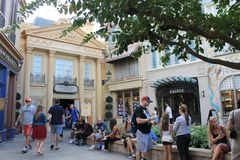 Old fashioned French facade at Epcot Disney stock photography
