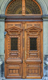 Old fashioned front door entrance, Europe Royalty Free Stock Photos