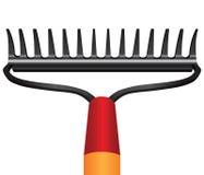 Garden rakes. Old-fashioned garden rakes for garden care. Vector illustration Stock Photos