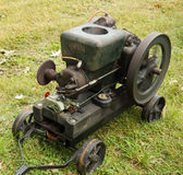 An old-fashioned gas engine at a summer fair in kentucky Royalty Free Stock Image