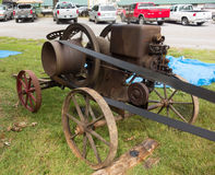 An old-fashioned gas engine at a summer fair in kentucky Stock Image