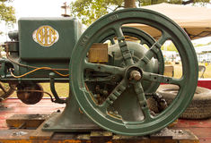 An old-fashioned gas engine at a summer fair in kentucky Royalty Free Stock Photography