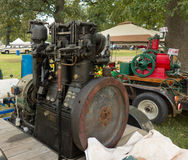 Old-fashioned gas engines at a summer fair in kentucky Stock Images