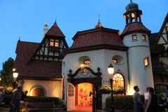 Old fashioned German town at Epcot Disney royalty free stock images