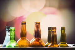 Old fashioned glass bottles Royalty Free Stock Photography
