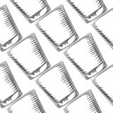 Hand drawn old fashioned glass seamless pattern. Engraving style vector illustration royalty free illustration