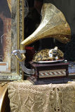 Old fashioned gramophone Stock Image