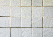 Old-fashioned gray tiles on old wall Stock Photography