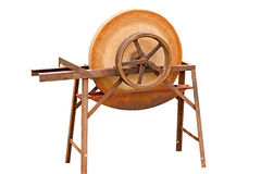 Old Fashioned Grinding Wheel Stock Photo