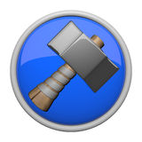 Old fashioned hammer icon Stock Images