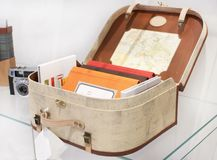 Suitcase with books Royalty Free Stock Image