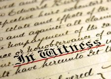 Old fashioned handwriting Stock Photography
