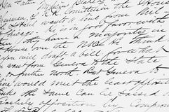 Old Fashioned Handwriting. Old Fashioned cursive handwriting background Stock Photography