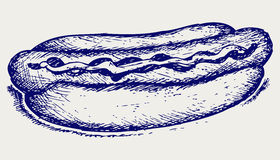 Old-fashioned hot dog royalty free illustration