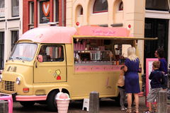 Old fashioned ice cream seller van Stock Images