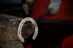 Old fashioned iron horse shoe Royalty Free Stock Image