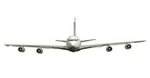 Old fashioned jet airplane isolated Stock Image