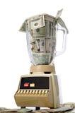 Old Fashioned Kitchen Blender full of cash Stock Images