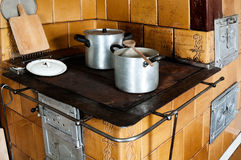 Old-fashioned Kitchen Stove Royalty Free Stock Photos