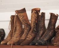 Old Fashioned Ladies Boots Royalty Free Stock Photos