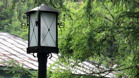 Old-fashioned lamp post stock video footage